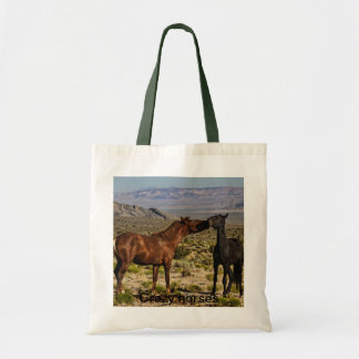 Crazy horses tote bag