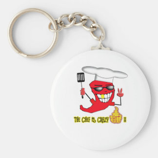 Crazy Hot Chef Keychain