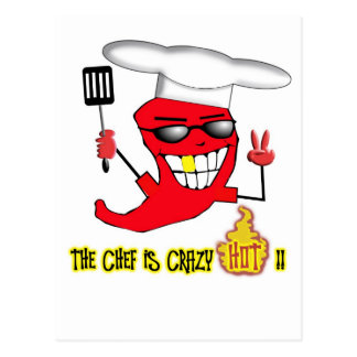 Crazy Hot Chef Postcard