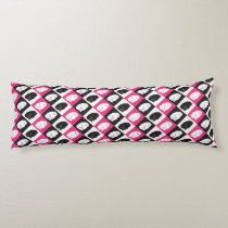 Crazy Hot Pink Kitty Cat Pattern Body Pillow
