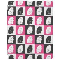 Crazy Hot Pink Kitty Cat Pattern iPad Smart Cover