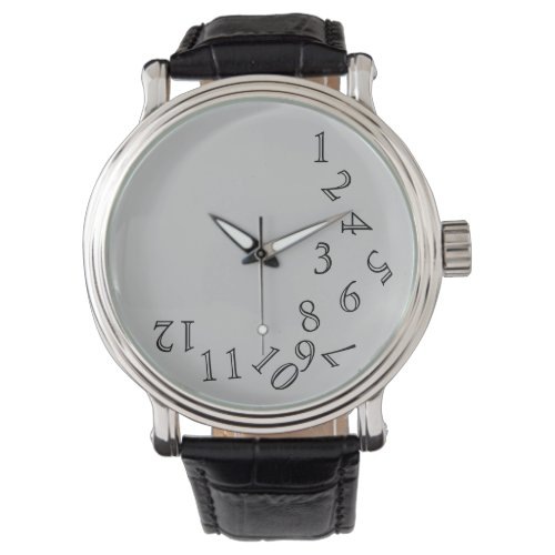 crazy hour time numbers wristwatch
