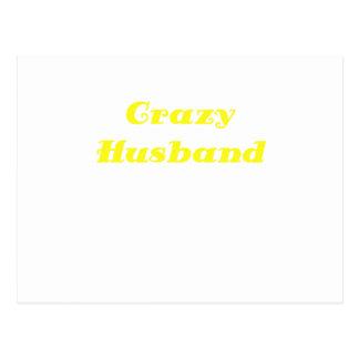 Crazy Husband Postcard