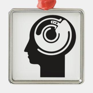 crazy idea metal ornament