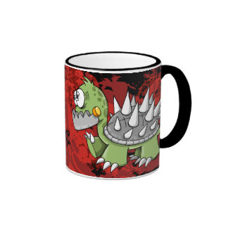Crazy Insane Cyborg Robot War Turtle  Mug