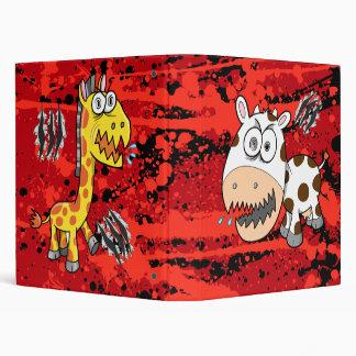 Crazy Insane Giraffe Vs Cow !!BATTLE BINDER!! 3 Ring Binder