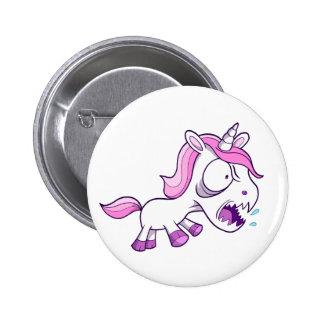 Crazy Insane Little Unicorn Pinback Button