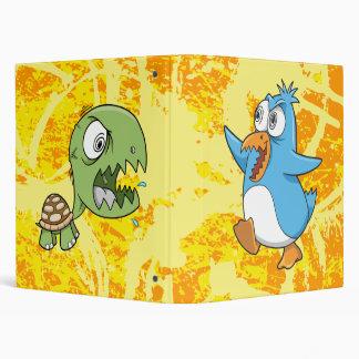 Crazy Insane Penguin vs Turtle  !!BATTLE BINDER!! 3 Ring Binder