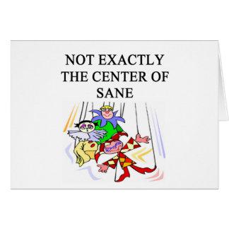 crazy insane psychology design greeting card