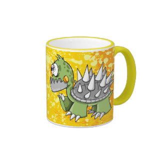 Crazy Insane Robot Cyborg  Turtle Mug