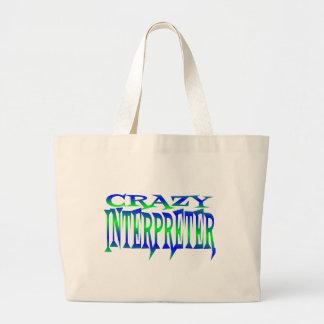 Crazy Interpreter Large Tote Bag