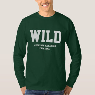 Crazy Iowa Hockey Fan Long Sleeve. T-Shirt