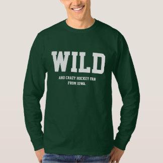 Crazy Iowa Hockey Fan Long Sleeve. T Shirt