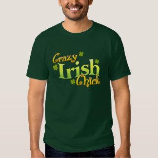 Crazy Irish Chick Funny T-shirt