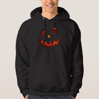 Crazy Jack O Lantern Pumpkin Face Orange Hoodie