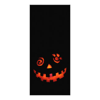 Crazy Jack O Lantern Pumpkin Face Orange Rack Card