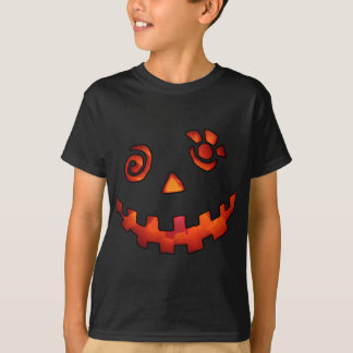 Crazy Jack O Lantern Pumpkin Face Orange T-Shirt