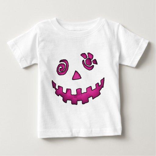 Crazy Jack O Lantern Pumpkin Face Pink Shirt