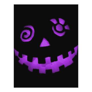 Crazy Jack O Lantern Pumpkin Face Purple Flyer