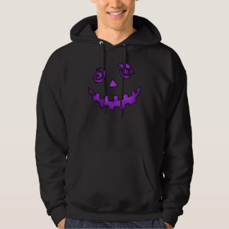 Crazy Jack O Lantern Pumpkin Face Purple Hoodie