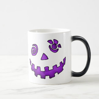 Crazy Jack O Lantern Pumpkin Face Purple Magic Mug