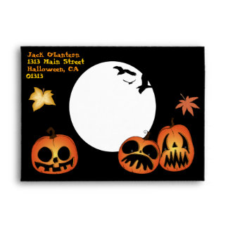 'Crazy Jacks' Halloween Envelope