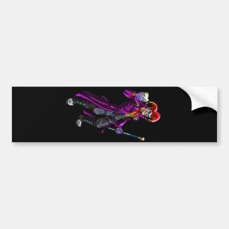 Crazy Jester Bumper Sticker