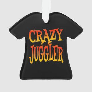 Crazy Juggler in Bright Colors Ornament