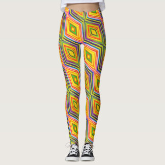 Crazy Kaleidoscope Spin Out on Your Work Out Leggings
