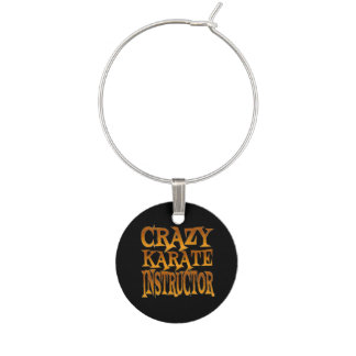 Crazy Karate Instructor in Gold Wine Charms
