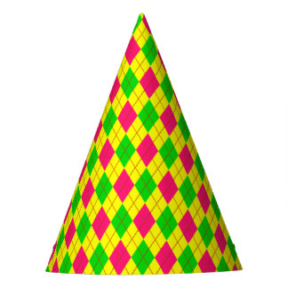 Crazy Kids Colors (CKC)Argyle 6-PAPER PARTY HATS