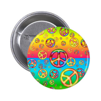 Crazy Kids Colors-PEACE OUT-Button Pin