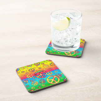 Crazy Kids Colors-PEACE OUT-Drink Coasters