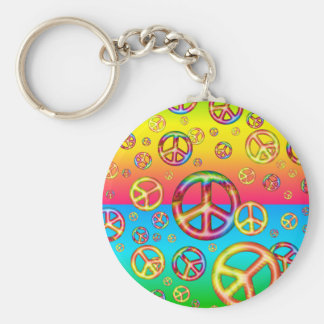 Crazy Kids Colors-PEACE OUT Keychain