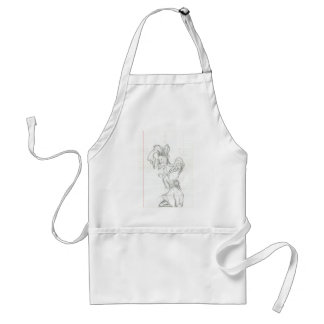 Crazy Killer klown Adult Apron
