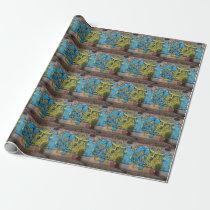 Crazy Kind Of Fantasy Horned Owl Graffiti Wrapping Paper