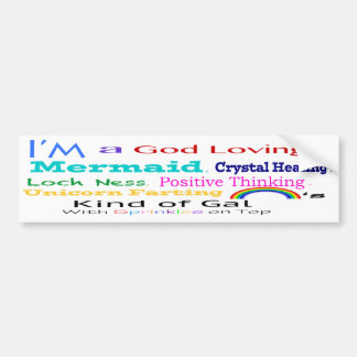 Crazy kind of gal bumper sticker