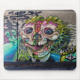 Crazy Kind Of Horror Skull Graffiti Mouse Pad