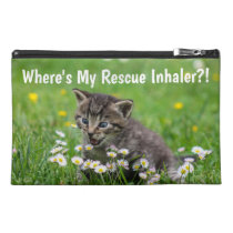Crazy Kitten Asthma Rescue Inhaler Bag