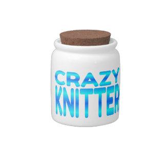 Crazy Knitter Candy Jar