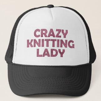 Crazy Knitting Lady Trucker Hat