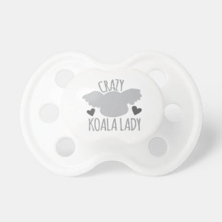 Crazy Koala Lady Pacifier