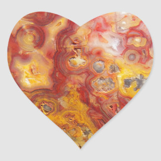 Crazy Lace Agate Image Heart Sticker
