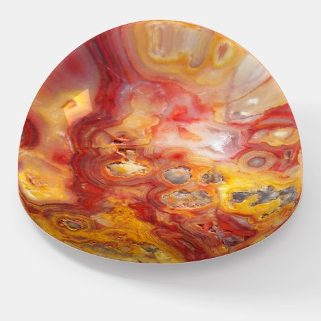 Crazy Lace Agate Pattern Paperweight