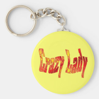crazy lady keychain