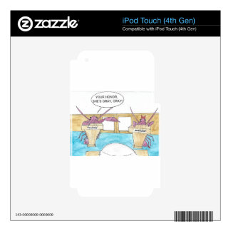 Crazy Lady Skins For iPod Touch 4G
