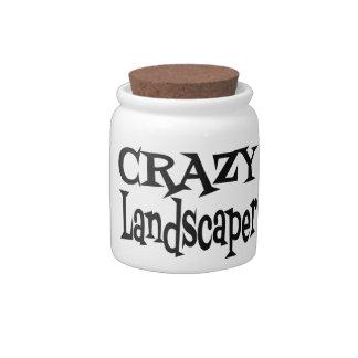 Crazy Landscaper Candy Jars