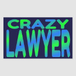 Crazy Lawyer Rectangular Stickers