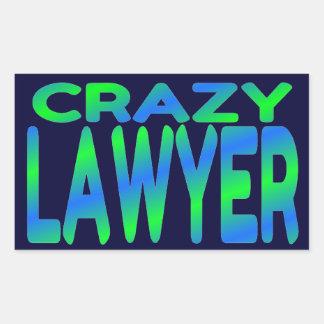 Crazy Lawyer Rectangular Stickers