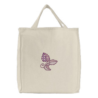 Crazy Leaves Embroidered Tote Bag
